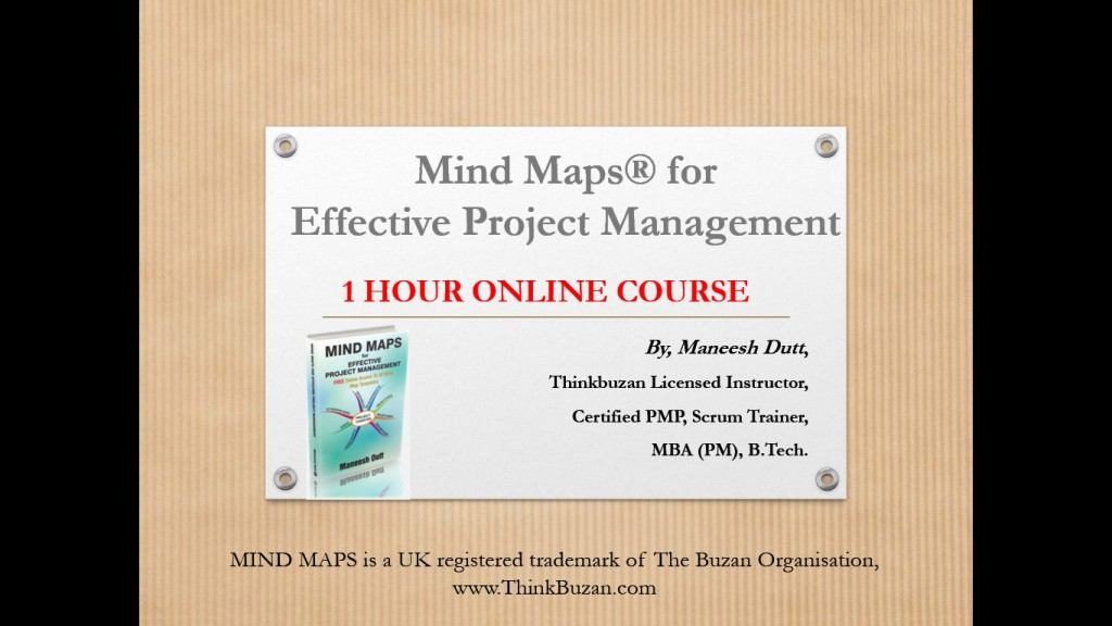 "Master online ""Mind Maps for Managing Projects Better"""